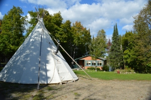 Tipi at new cabin